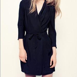Aritzia Wilfred Franca wrap dress black size 6
